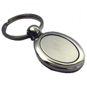 Nickel Plated Oval Key Ring