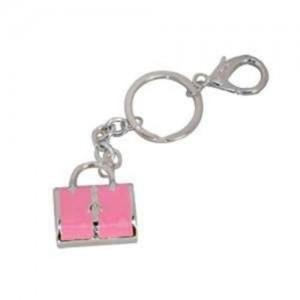 Cool Bag Handbag Charm Keyring Pink