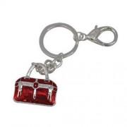 Cool Bag Handbag Charm Keyring Red