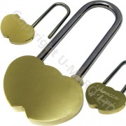 Large Polished Brass Love Locks