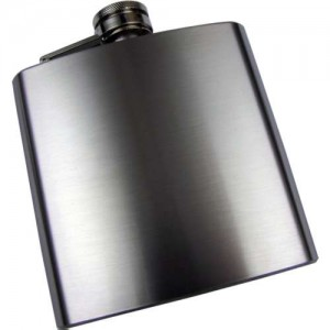 Brushed Stainless Steel 6oz Hip Flask