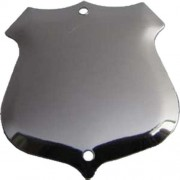 Record Shield  32 x 29 mm  Aluminium  Bevelled.