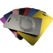 Engravable Anodised Aluminium Luggage Tags Large. Due to the Anodising Process the colour may vary.