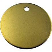 20 mm Brass Disc. Engravable using a diamond cutter.