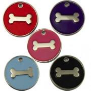 Engravable Enamelled Designer Bone Pet Tags 25 mm.