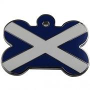 Enamelled Bone with the Scotland Flag
