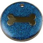 Glitter Bone Pet Tag 32 mm
