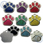 Glitter Paw Shaped Pet Tag 27 mm