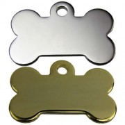 Engravable Gold or Nickel Plated 25 mm Bone.